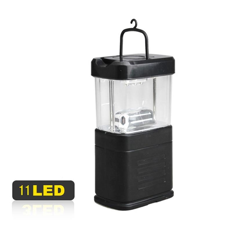 Portable Energy-saving Camping Fishing 11 LED Bivouac Lamp Hook Lantern Light A2  HR