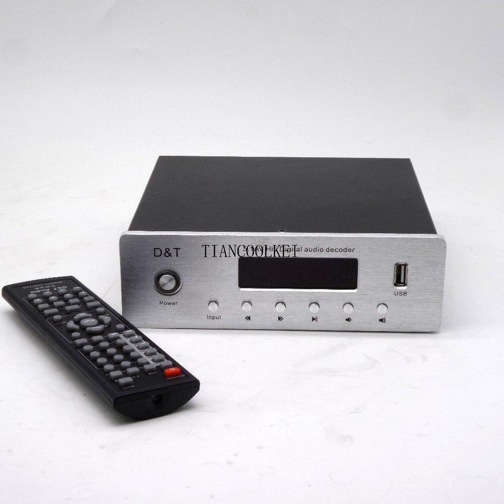 5,1 amplificador Digital con sistema de sonido Home Theater de 6 canales con fibra Coaxial DTS AC3 decodificación de Audio música sin pérdidas