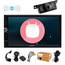 Backup camera included! Double 2Din Car Stereo Android 6.0 GPS Car NO DVD Player 4-Core Car Autoradio with Navigation Wifi 1080P