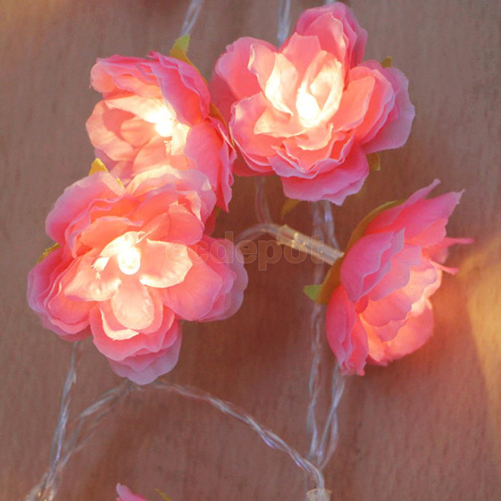 Diy flower string lights - 20 Led 78inch Battery Operated Diwali Flowers String Lamp Fairy Lights Home Diy China