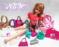 30Pcs/lot  Wholesale Fashionable 1/6Doll Casual Bags For Barbie Dolls Mixed Styles Doll Nice Handbags Shoulder Bag Free Shipping