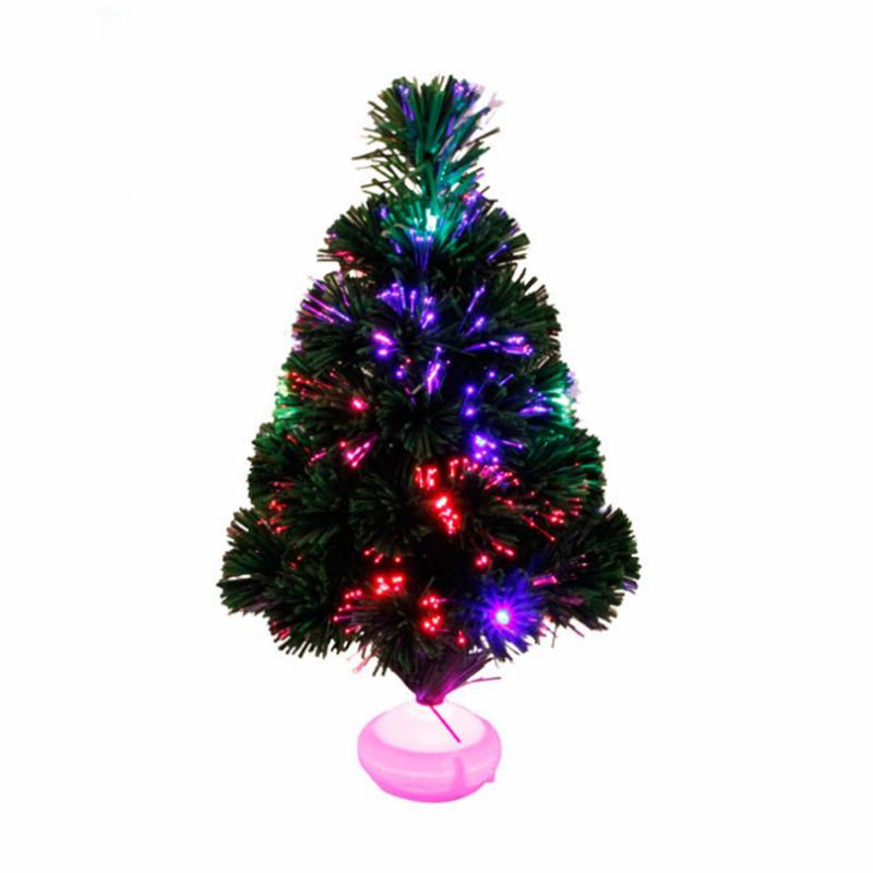 45cm Fiber Optic Christmas Tree with LED Colorful Light Simulation Tree Christmas Decorations for Home Natal Supplies ...