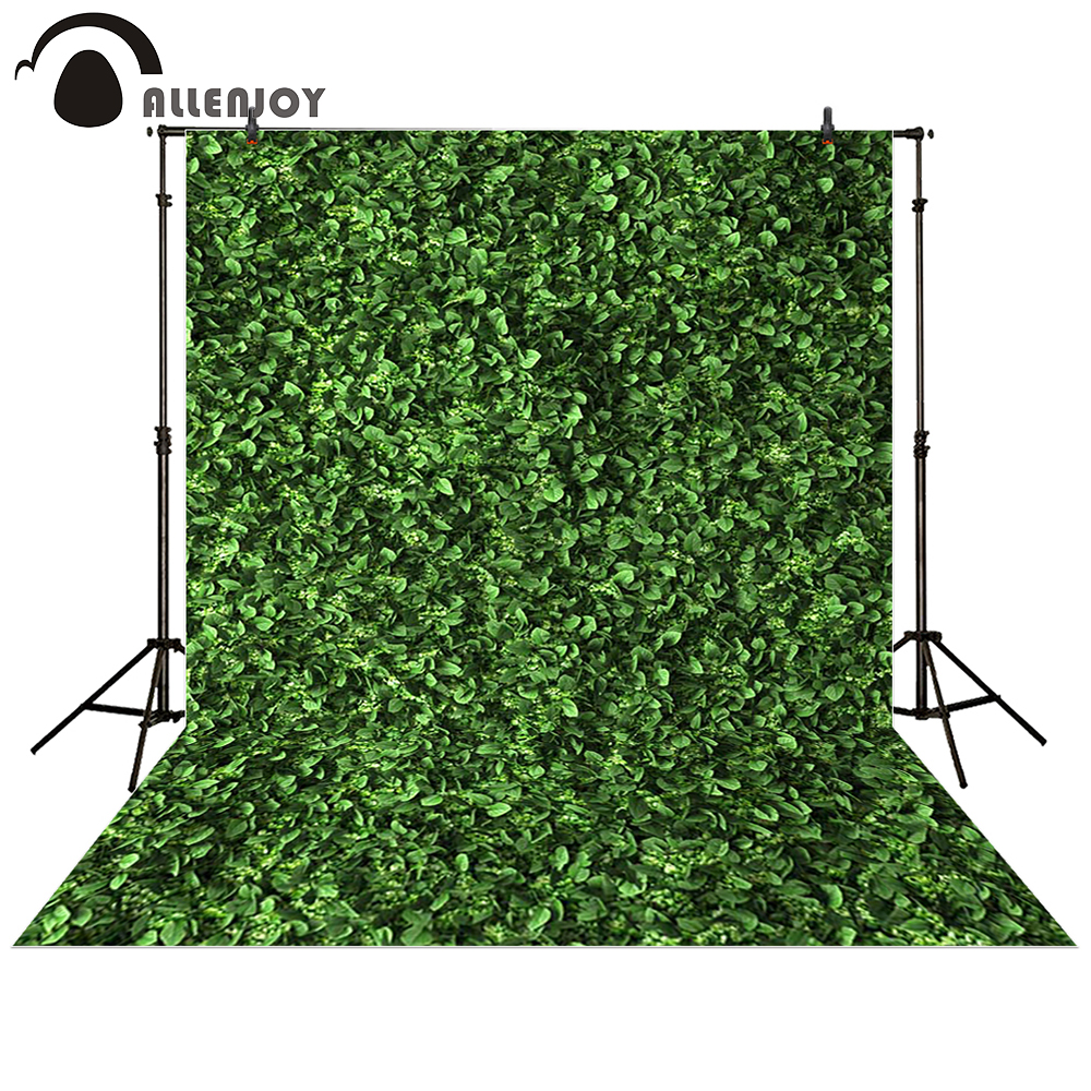 Allenjoy photography backdrop Leaves wall green nature baby shower children background photo studio photocall 215cm 150cm fundo microphone singing music3d baby photography backdrop background lk 1865