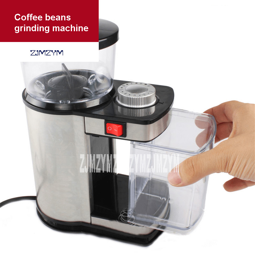 High Quality Coffee Bean Coffee machine Electric grinder 9 level Adjustable coffee beans research machine 220V-240V 75W 100G Hot electric coffee grinder electrical coffee beans bean grinder 220v coffee mill electric coffee maker machine high quality