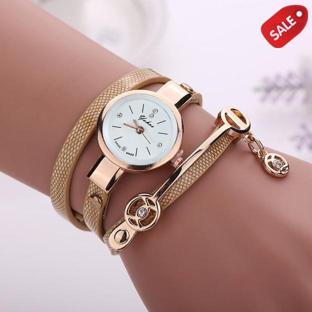 Women Watches Fashion Casual Bracelet Watch Women Relogio Leather Rhinestone Analog Quartz Watch Clock Female Montre Femme Clock