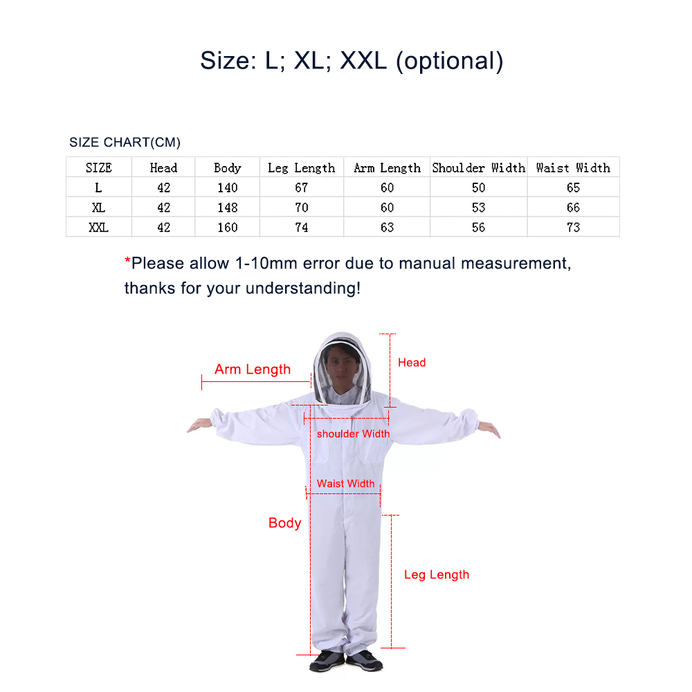Image 5 - Outdoor Tools Beekeeping Veil Suit Jacket Thick Beekeeper Protective Clothing Anti bee Clothes Bee Hat Equipment Outdoor Tools-in Outdoor Tools from Sports & Entertainment