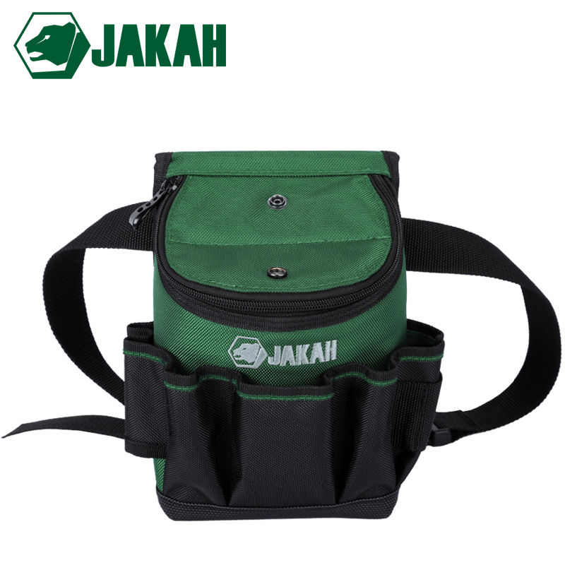 JAKAH Electrician Waist Bag Tool Holder Convenient Work Organizer Pouch Belt Men Multi-Pockets Tool Bag For Hand Tools