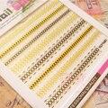1 Sheet Gold Lace 3D Nail Sticker 6.5*5.5cm Elegant Manicure Nail Art Sticker Pattern 685-688