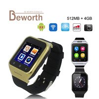 ZGPAX S8 Android 4.4 Inteligente Watch Phone GPS MTK6572 Dual Core 512 MB 4 GB 2.0MP Cam SIM 3G Wi-fi Bluetooth 4.0 WCDMA GSM Smartwatch