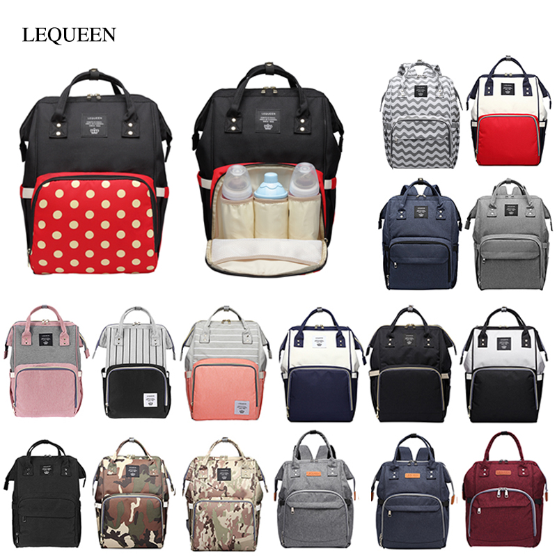 LEQUEEN Large Capacity Mummy Maternity Bag Newborn Baby Diaper Bag Multifunctional Nursing Bag Backpack Baby Care Convenient