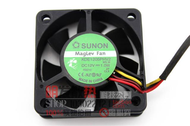 Originais 5015 5 CM ventilador silencioso 1.0 W KDE1205PHV2 12 V medição de velocidade