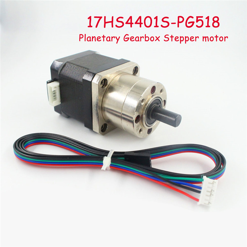 free shipping Extruder Gear Stepper Motor Ratio 5.18:1 Planetary Gearbox Nema 17 Step Motor For 3D Printer New Arrival
