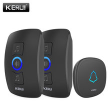 KERUI Wireless Doorbell Waterproof Touch Button LED light Cordless Smart Home Door Bell Chime Kit with 32 Chimes Door bell Alarm(China)