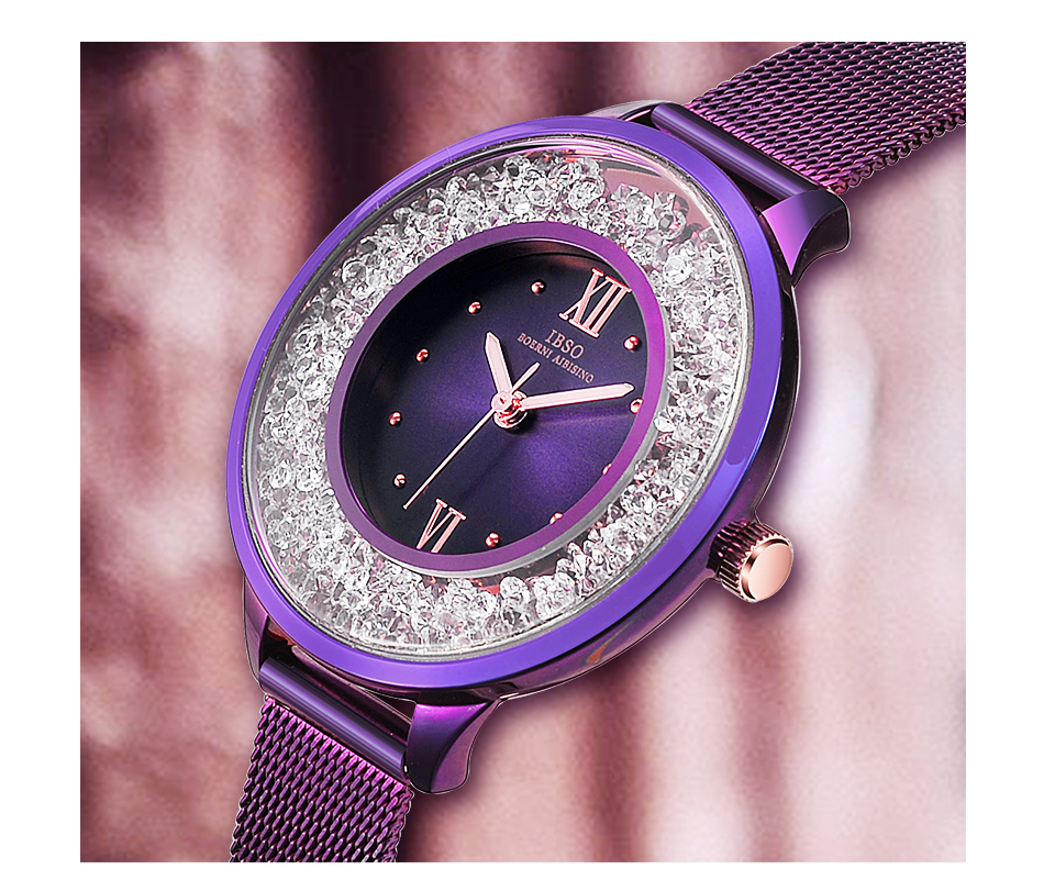 IBSO Brand Women Fashion Watch 2018 Mesh Strap Watch Female Watch 05