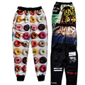 Raisevern New Fashion Men/women 3D Pants Donut/Cat/Cobble/Letter Print Sweatpants Full Length Joggers Trousers Casual Streetwear