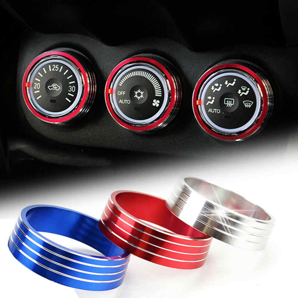 knob decorative ring for outlander lancer evo heater climate control switch panel buttons knobs cover air conditioning