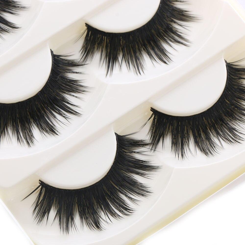 5 Pairs Of Women Makeup Thick False Eyelashes Nautral Eye Lashes Cross Long Black Handmade Eyelash Extension Makeup Beauty Tools