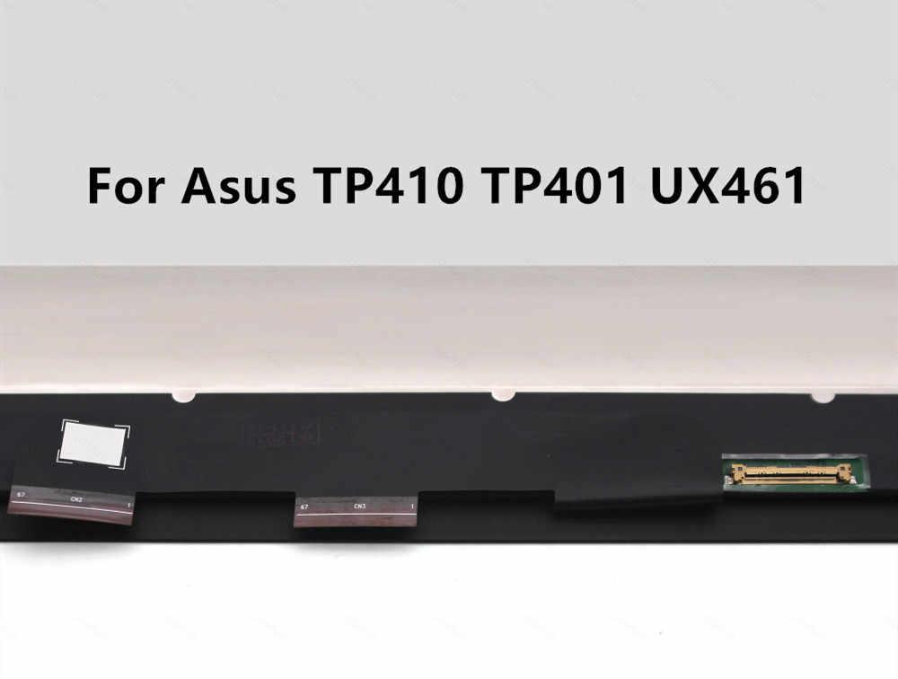 شحن مجاني بدون إطار 14 ''ل ASUS VivoBook الوجه 14 TP410 TP401 UX461 شاشة إل سي دي باللمس شاشة lcd الجمعية 1920*1080