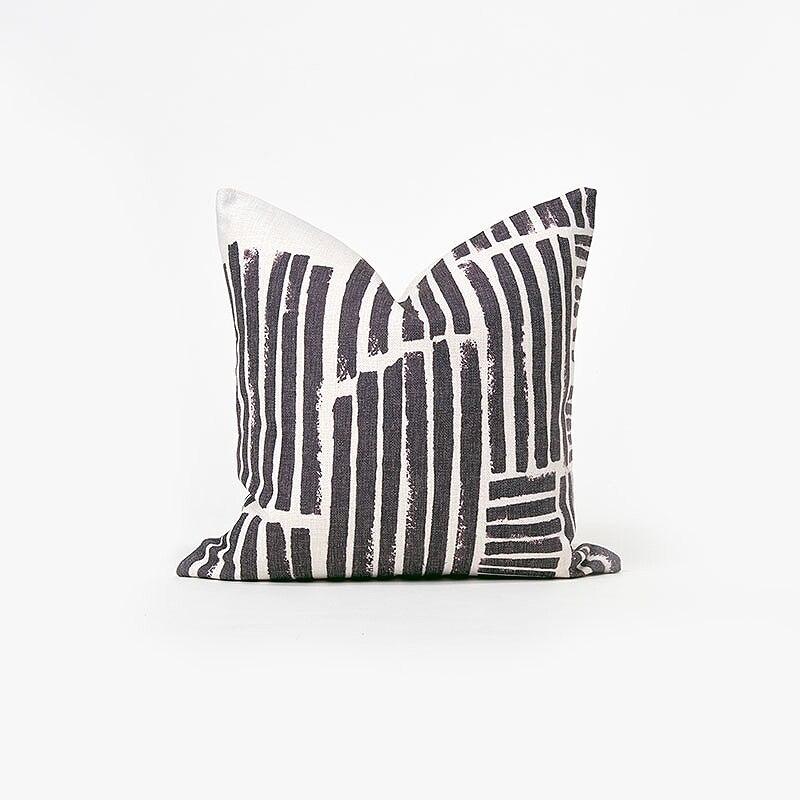 Geometric Pillow Case Nordic Marble Texture Pillowcase Cotton Linen Fronha Plilow Cover for Home Cafe Office Black White 45*45cm|Pillow Case| |  - title=