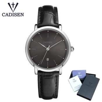 Cadisen 2018 New Fashion Brand watches women luxury watch  Women Faux Leather Analog Quartz Wrist Watch relojes mujer Gift Women Quartz Watches