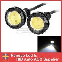 цена на 10pcs/lot Parking light 23mm Eagle Eye led car lights DRL Daytime Running Light 12V 9W Fog Tail lamp Waterproof Reverse Lamp