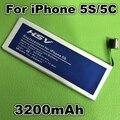 3200 mah bateria de substituição para apple iphone 5s iphone5s bateria iphone 5c frete grátis com número de rastreamento