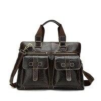 2018 для мужчин's пояса из натуральной кожи сумка дизайнер сумки Высокое качество сумка для ноутбука мужчин s портфели кожаная итальянская