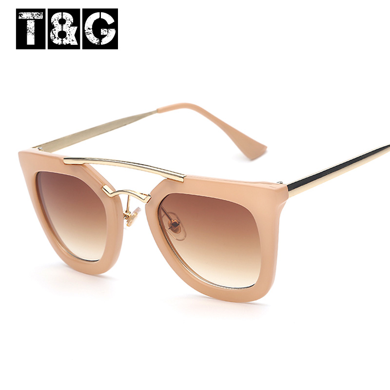 Brand Designer Retro Vintage Sunglasses Women <font><b>Nude</b></font> Color Double Beam Classic Woman Retro Top Quality <font><b>Sun</b></font> Glasses <font><b>Female</b></font> UV400