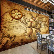 Retro Nostalgia Poster 3D Room Wallpaper Custom Mural Non-woven Wall Paper Decor Navigation Sailing World Map Mural Paintings цена 2017