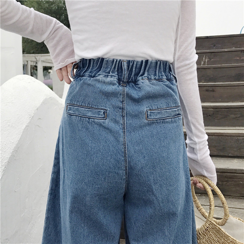 Women Jeans Pants Fashion Retro Loose High Waist Wide Leg Pants Women Denim Wide Leg Jeans Ladies Jeans Trousers Vaqueros Mujer 5