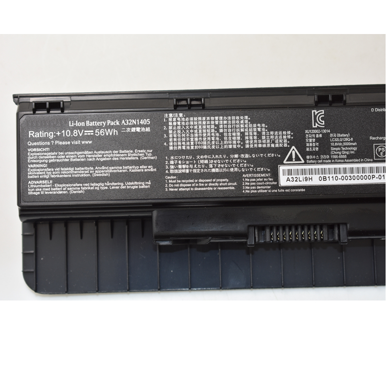 HSW genius laptop battery A32N1405 56WH For Asus G551 G551J G551JK G551JM G771 G771J G771JK N551J N551JW N551JM N551Z in Laptop Batteries from Computer Office