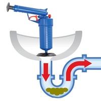 High Pressure Waterway Pipe Dredger Air Drain Blaster Pressure Pump Cleaner Home Unclogs Toilet Hand Powered Plunger Set