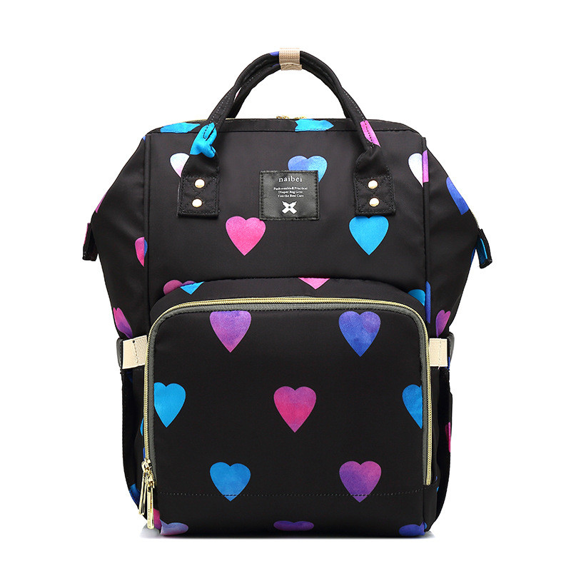Upgrade Love Heart Printed Multi-function Mummy Diaper Bags Mother and Baby Candy Color Backpack Large Capacity Fashion TravelUpgrade Love Heart Printed Multi-function Mummy Diaper Bags Mother and Baby Candy Color Backpack Large Capacity Fashion Travel
