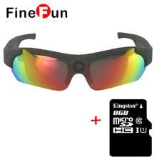 FineFun PU16-B Orange 8GB Sun shades Polarized Lens HD 1080P Sun shades Digicam Motion Sport Video Digicam Sensible Glasses
