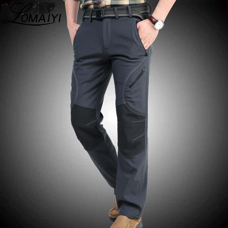 LOMAIYI 2018 Invierno Cálido Pantalones Casuales Hombres Negro - Ropa de hombre - foto 3