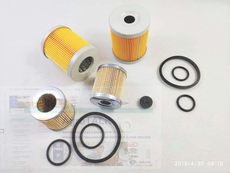 Shenniu Bison 254 tractor parts, the set of paper oil filter and fuel filter elementShenniu Bison 254 tractor parts, the set of paper oil filter and fuel filter element