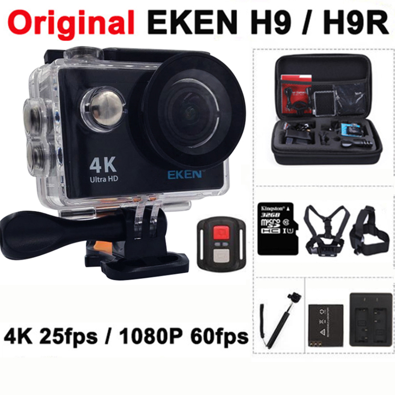 Original EKEN H9 / H9R Action camera Ultra HD 4K / 25fps WiFi 2.0 170D underwater waterproof Helmet Cam camera Sport cam original eken sports camera h9 h9r action camera 4k 25fps with remote 2 0 helmet ultra hd cam underwater go waterproof pro