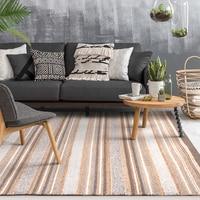 handmade striped wool blending bedside carpet ,big size living room coffee table carpet, decoration office rug