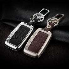 Aluminum+Leather Car Styling Key Cover Case Accessories For Land Rover A9 Range Freelander 2 3 Evoque Discovery 4 Sport