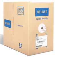 1000ft 305m UTP CAT5e Cable Copper Plated High Conductivity Aluminum Wire Box RJ45 Network Twisted Pairs