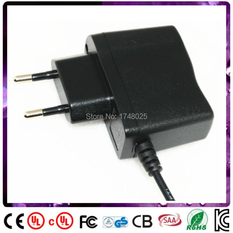2 Pin EU Plug DC 6V 500mA 0.5A Power Supply Adapter Charger 5.5mm x 2.1mm