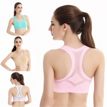 Racerback workout stretch padded tank yoga bra top sports women
