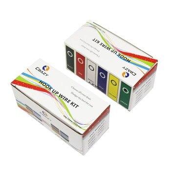 30 m/caja 98ft 18 AWG 6 metros cada color Flexible de silicona de goma de alambre de cobre estañado línea Kit 6 colores DIY