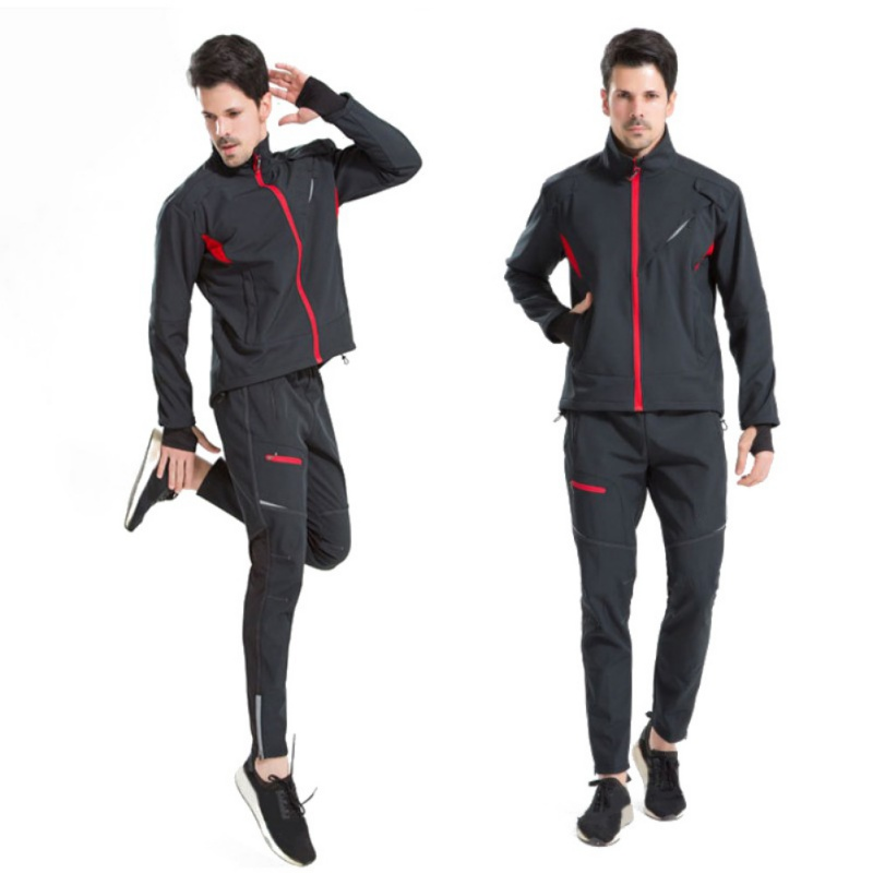 Outdoor Bike Riding Autumn And Winter Thick Fleece Warm Split Riding Suits Wind Cold Day k5