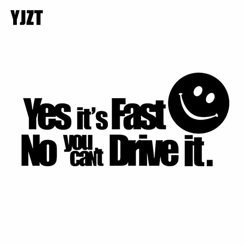 YJZT, 20 см * 9,1 см, да, это быстро, нет, вы не можете водить его, Виниловая наклейка, автомобильная наклейка, черная/серебряная, стандартная