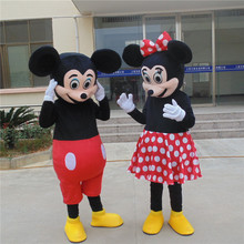 2 PC/Minnie mouse cartoon mascot costume adult size, because Halloween carnival costumes