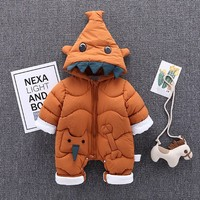 2019 New Born Baby Clothes Winter Autumn Warm Girl Romper Baby Clothes Kids Boy Cartoon Jumpsuit Overalls Thicken Rompers 6 24M
