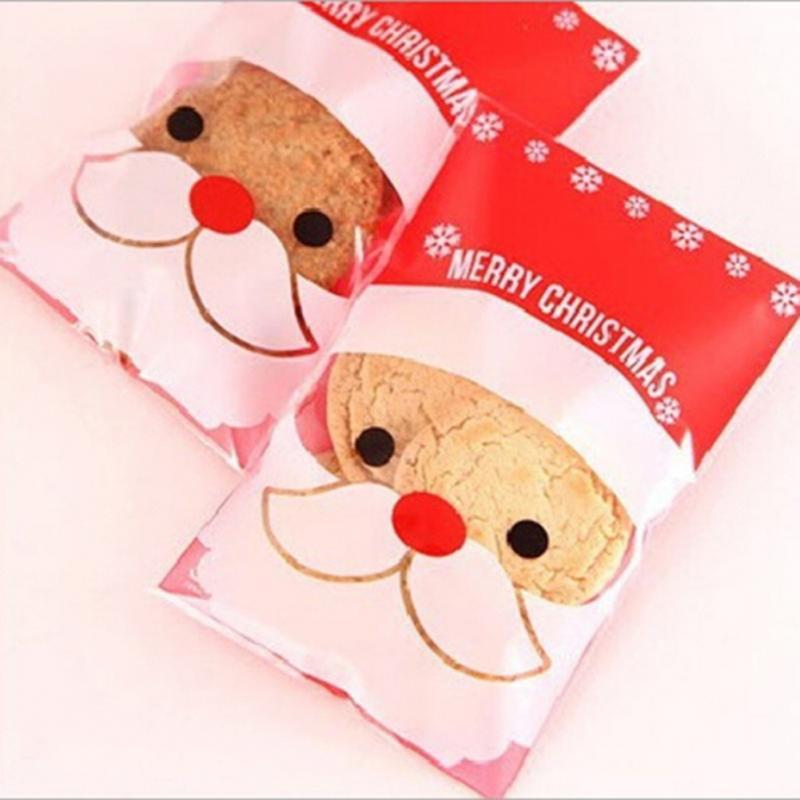 unidslote bolsa de envasado de galletas de regalo de navidad de la boda