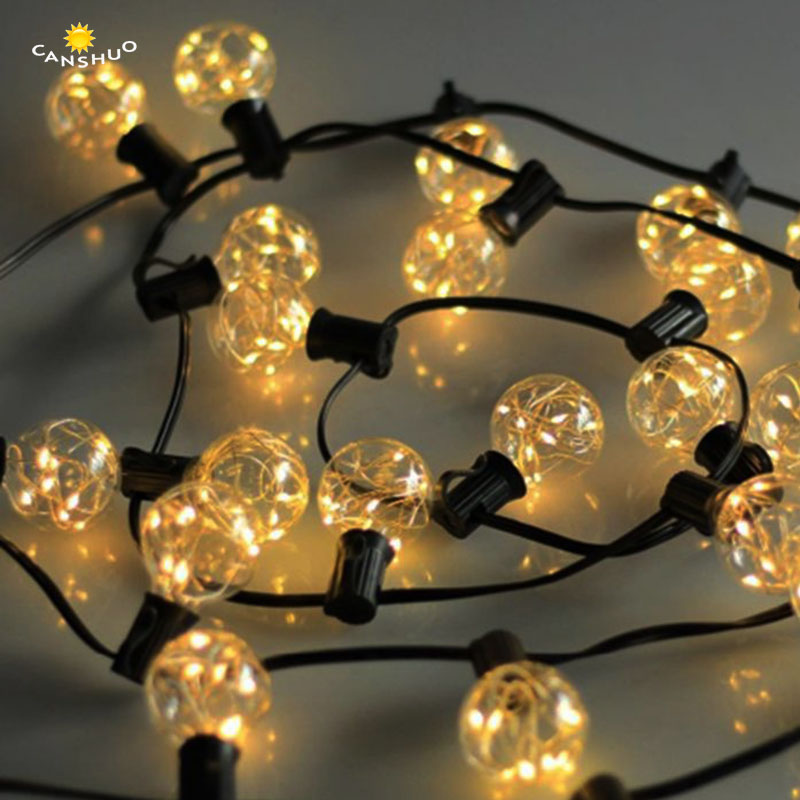 String Lights 8m 25 G40 Globe Bulbs UL Listed for Indoor/Outdoor Commercial Outdoor Hanging Umbrella Garden Patio Lamp Lights стоимость