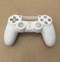 PS4 V1 Gen 1 Denetleyici Pürüzsüz Beyaz Ön Geri Kabuk Koruyucu Kılıf Kapak Onarım Playstation 4 Dualshock 4 PS4 gamepad